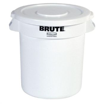 Rubbermaid Brute ronde container wit 37.9L