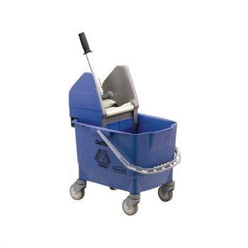 Rubbermaid rolemmer met wringer blauw 25L