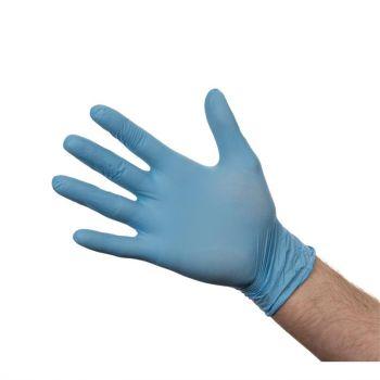 Nitril handschoenen blauw poedervrij L